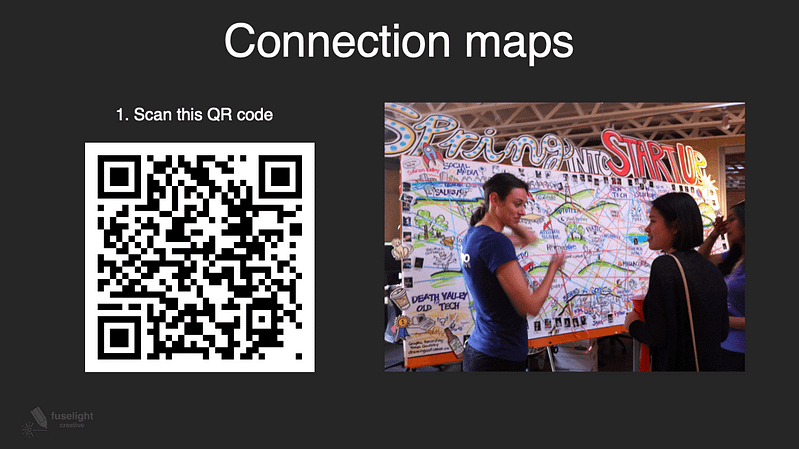 QR code for initializing the AR experience of connection maps