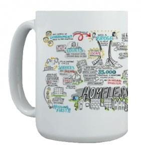 Graphic Recording on mug