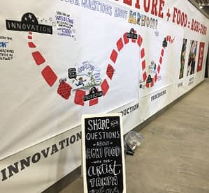 calgary stampede graphic recording, foam board sign, interactive graphic recording, conference engagement, conference engagement techniques, trade show engagement, knowledge wall, idea wall, edutainment, live illustration, graphic recording, live scribing, live facilitation, graphic facilitation, fuselight creative, graphic recorder calgary, graphic recording company, facilitation company, tanya gadsby, igniting ideas in ink