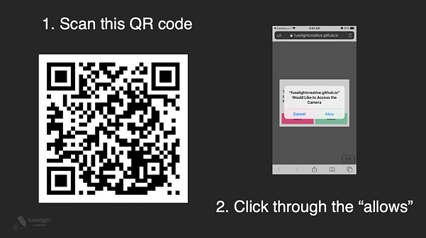 QR Code to open the AR experience